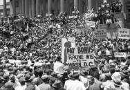 Foto: Bonus March - pochod prvoválečných veteránů do Washingtonu během krize (zdroj: CARRIAGETRADE.ORG)